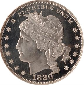 1880 J-1653 S$1 PF obverse