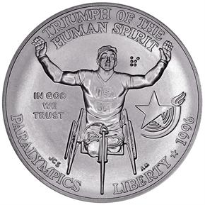 1996 D OLYMPICS PARALYMPICS S$1 MS obverse