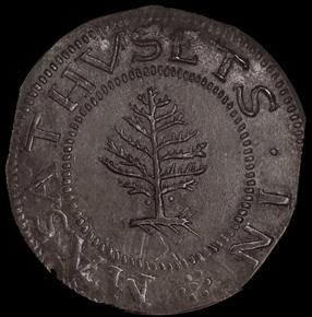 1652 PELLETS PINE TREE MASSACHUSETTS 1S MS obverse