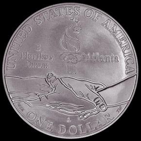 1995 D OLYMPICS GYMNASTICS S$1 MS reverse