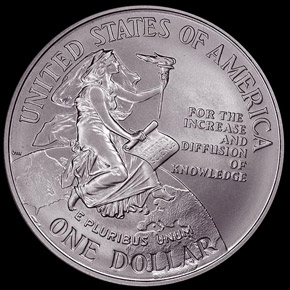 1996 D SMITHSON S$1 MS reverse