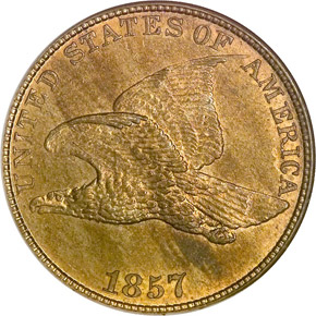 1857 EAGLE 1C MS obverse