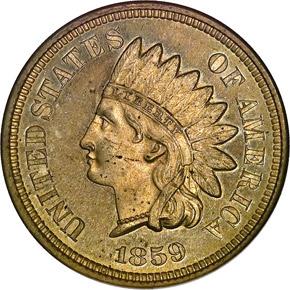 1859 1C PF obverse