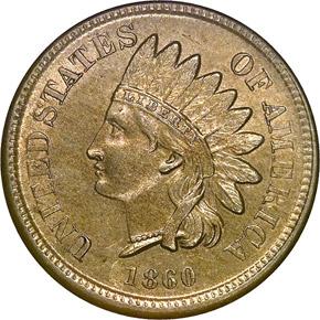 1860 1C MS obverse