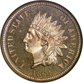 1860 1C PF obverse
