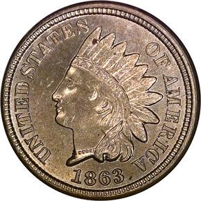 1863 1C MS obverse