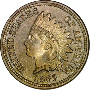 1863 1C PF obverse