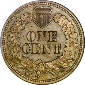 1863 1C PF reverse