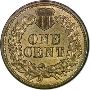 1864 COPPER NICKEL 1C MS reverse