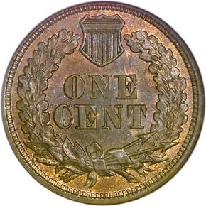 1864 L BRONZE 1C MS reverse