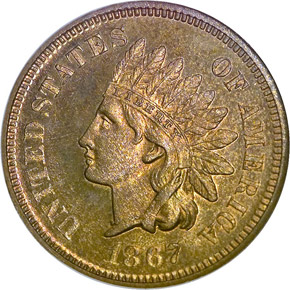 1867 1C PF obverse