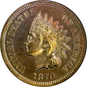1870 1C PF obverse