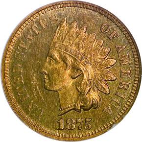 1875 1C PF obverse