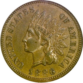 1886 TYPE 1 1C MS obverse