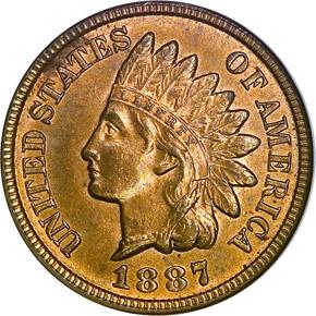1887 1C MS obverse
