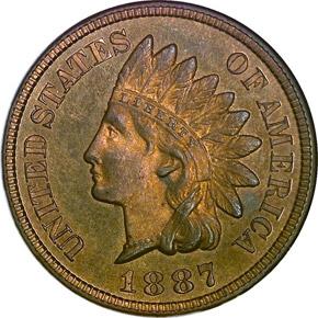 1887 1C PF obverse