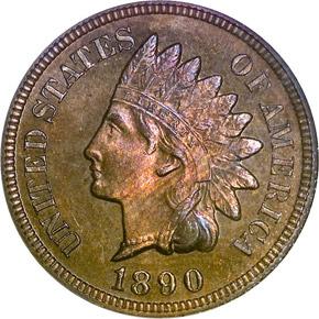 1890 1C PF obverse