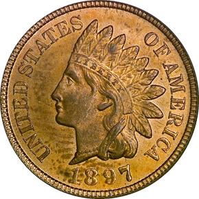 1897 1C MS obverse