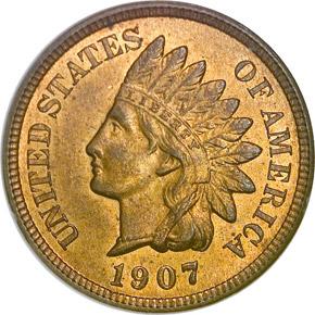 1907 1C MS obverse