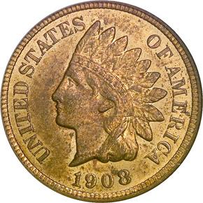 1908 1C MS obverse