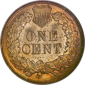 1909 INDIAN 1C MS reverse