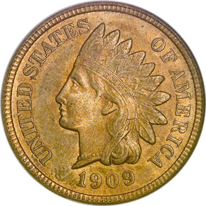 1909 S INDIAN 1C MS obverse
