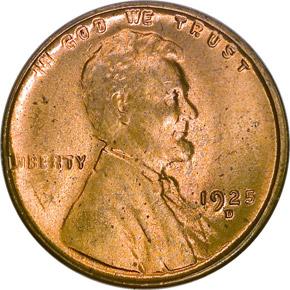 1925 D 1C MS obverse