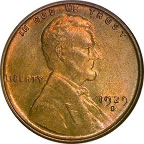 1929 D 1C MS obverse