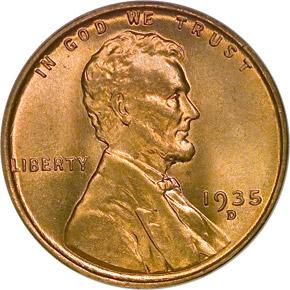 1935 D 1C MS obverse