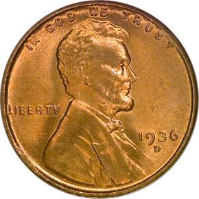 1936 D 1C MS obverse