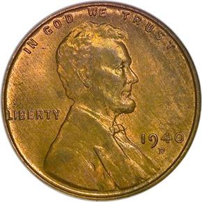 1940 D 1C MS obverse