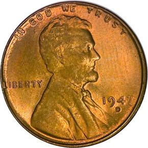 1947 D 1C MS obverse