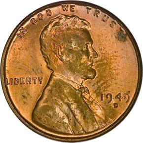 1949 D 1C MS obverse