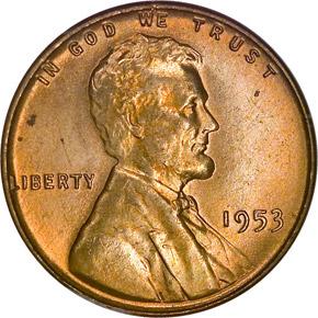 1953 1C MS obverse