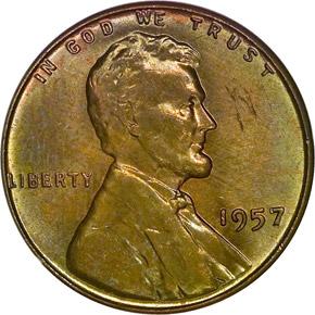 1957 1C MS obverse