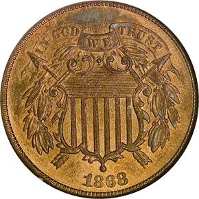 1868 2C MS obverse