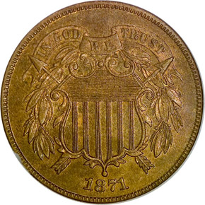 1871 2C PF obverse