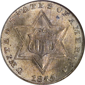 1855 3CS MS obverse