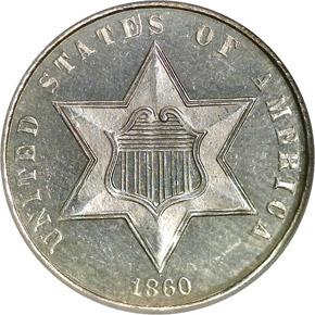 1860 3CS PF obverse