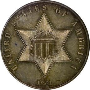 1861 3CS PF obverse