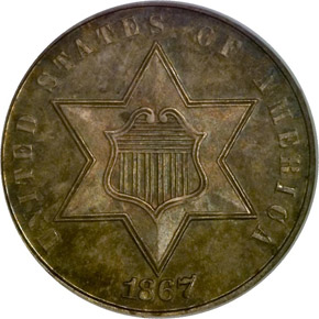 1867 3CS MS obverse