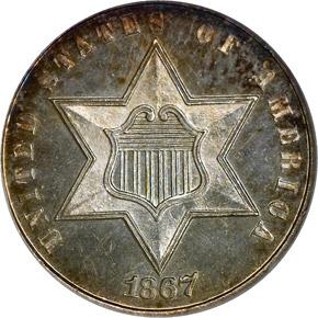 1867 3CS PF obverse