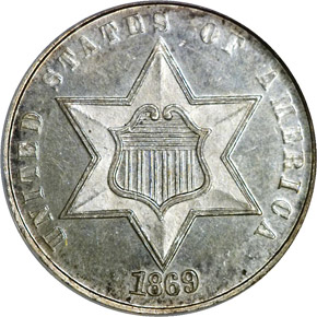 1869 3CS MS obverse