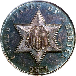 1871 3CS MS obverse