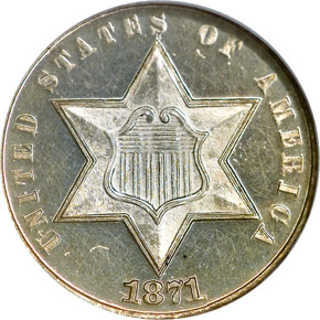 1871 3CS PF obverse