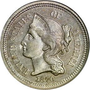 1870 3CN PF obverse