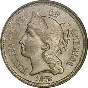 1872 3CN MS obverse