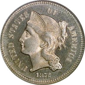 1872 3CN PF obverse