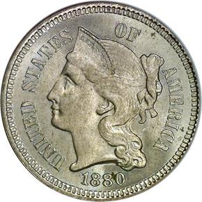 1880 3CN MS obverse
