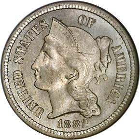 1882 3CN MS obverse